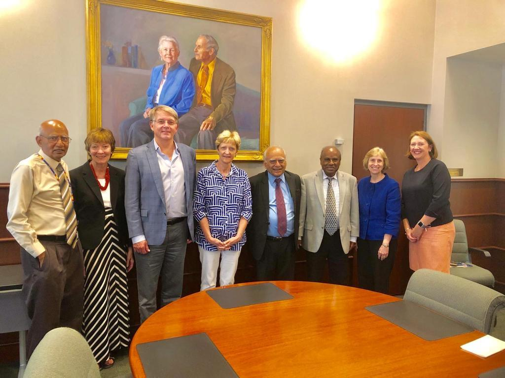 Dr. Ghosh and Dr. N.K Ganguly are with the dean and the administrators of JHU, Bloomberg School of public health